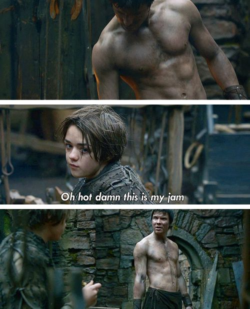 Game of Thrones - the only fandom in which you are scared to ship.  Lest everyone dies.: Geek, Arya Gendry, Gendry Arya, Arya Thought, Ship, Thrones Humor, Game Of Thrones Funny, Gameofthrones, Fandom