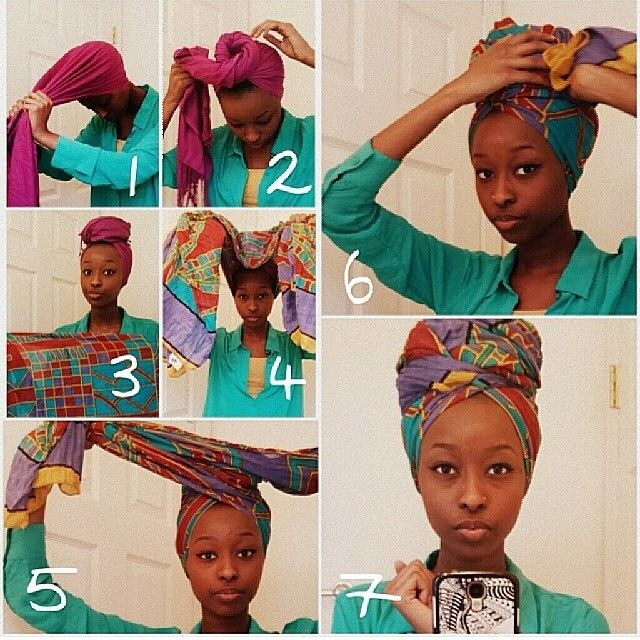 Might be trying this during the hot summer months when my hair doesn't stand a chance against the humidity.: Fashion, Head Wraps, Turban, Hairstyle, Natural Hair, Hair Scarf, Naturalhair
