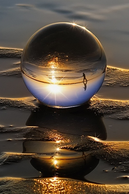 Nature and how it inspires- it gives us all that we need. Water for cleansing, and sand helps to desquamate to allow new skin to breath...: Photos, Bubble, Reflection, Nature, Art, Beautiful, Beach, Photography, Water Drop