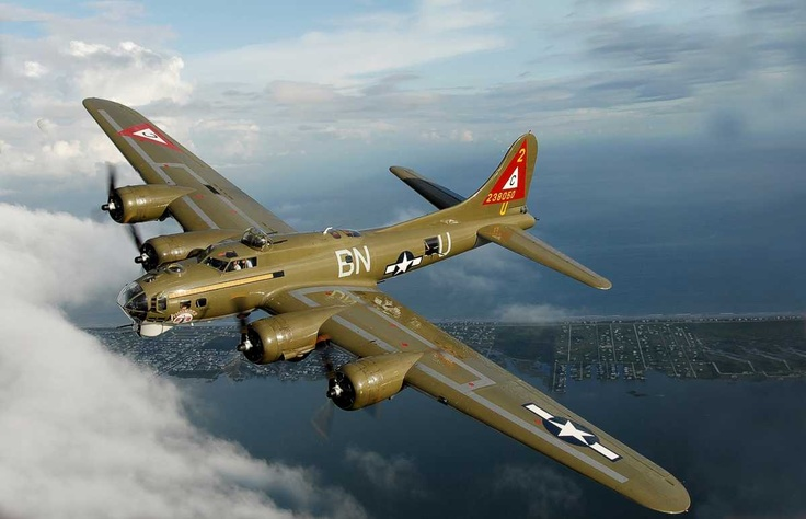 """Nice shot of the """"Thunder Bird""""!: Wwii, Aircraft, Bomber, B-17 Flying Fortress, B 17 Flying, Warbird, B17 Flying Fortress"""