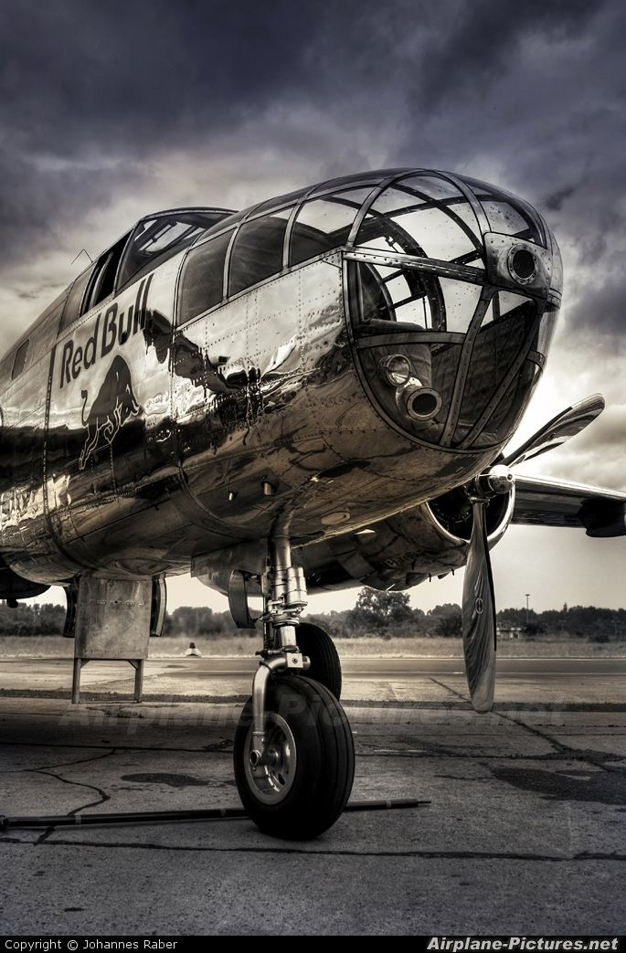 North American B25 Mitchell ~ used by many Allied air forces, in every theater of World War II.  (Modern Red Bull logo): North American, Airplanes Wwii, Aviation, B25 Mitchell, Aircraft, Planes Trains, Red Bull, American B25