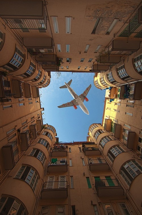 Now this is how you frame a photo of an airplane. I just wish I could tell what airline it was.: Photos, Amazing, Perfect Timing, Art, Pictures, Place, Photography