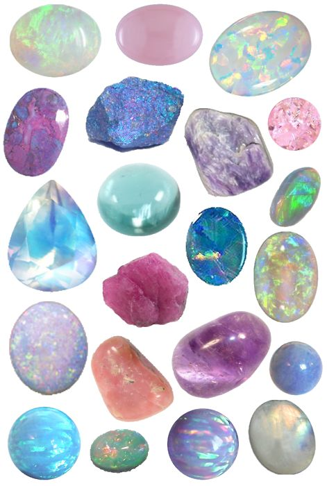 Opals, Amethysts, Peacock Pirite and other pretties! Can I get them all made into a necklace please!!: Crystals, Gemstones, Precious Stones, Color, Mineral, Opals, Rocks