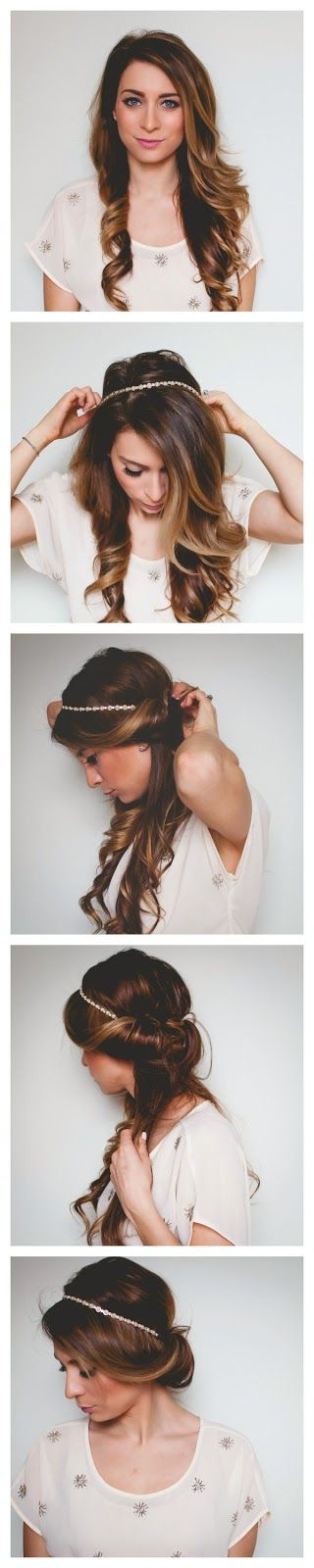 Quick and Easy, Romantic Hair Wrap Tutorial - Festival Hair: Hair Styles, Hair Tutorial, Hair Color, Easy Pretty Hairstyle, Headband Updo
