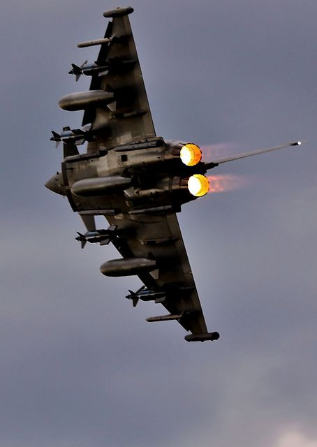 RAF Typhoon. #Warbirds: Military Aircraft, Air Force, Airplanes, Aviation Fighterjets, Military Stuff, Raf Typhoon, Planes