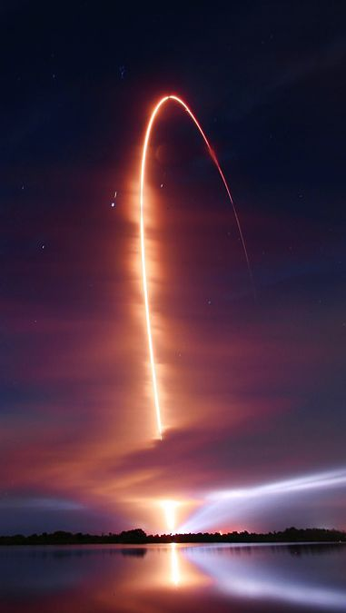 RBSP Night Launch. Photo by Mike Killian. This graceful arc traces an Atlas V rocket climbing through the sky over Cape Canaveral Air Force Station in Florida, USA, 2012 September 2: Shuttle Launch, Rocket Launch, Sky, Cape Canaveral, Space Shuttle, Beaut