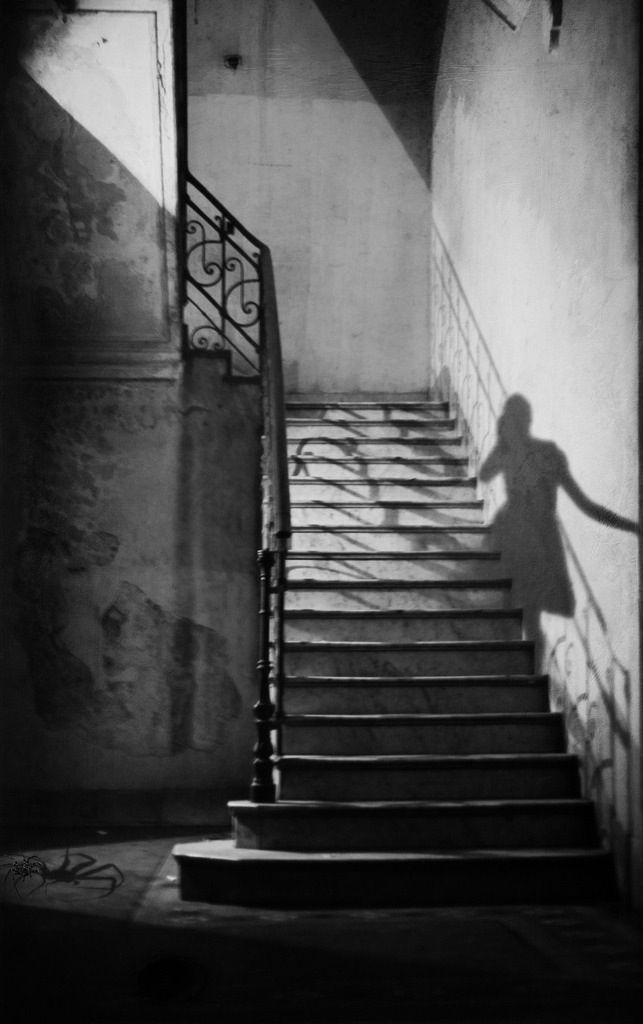 shadow | ghost ascending the stairs | brilliant black & white photography | afterlife | trick photography | ghosts |: White Photography, Jose Maria, Black White, Trick Photography, Shadows