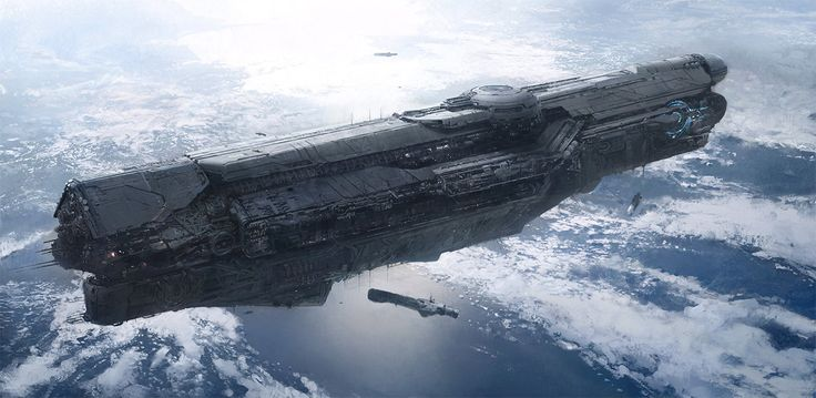 Spaceship Concept Art | ... ship vessels floating concept sci-fi science fiction spaceship art by: Concept Art, Halo, Scifi, Conceptart, Sci Fi, Unsc Infinity, John Free