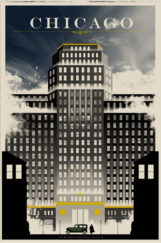 The Merchandise Mart! I worked for Monsanto in this building for several years. Quintessential Chicago!!!!: Movie Posters, Graphic, Art, Travel Posters, Vintage Travel