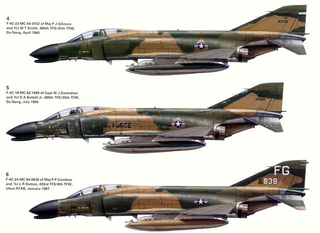 USAF F-4 Phantom II MiG Killers: Airforce, F 4 Phantom, Airplane, Aircraft, F4 Phantom, Jet Drawings, F4Phantom, Military