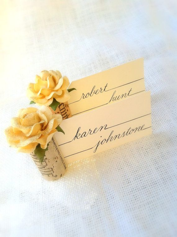Wedding Wine Cork Place Card Holders Champagne Sparkle, Table Settings, Made from Recycled Wine Corks, Vineyard Winery Bridal Showers: Cork Place Cards, Diy Wedding Place Cards, Weddings, Bridal Shower, Diy Place Cards Wedding, Cork Place Card Holders, We