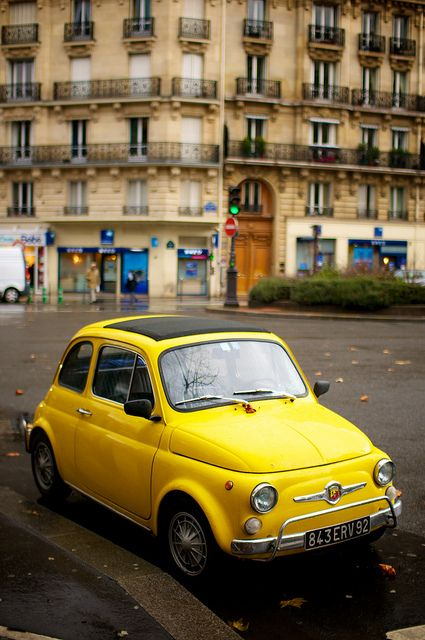 Yellow Fiat 595 by _Tophee_, via Flickr: Fiat 595, Classic Cars, Dream Cars, Auto, Cars Collections, Fiat 500, Yellow Fiat500, Photo