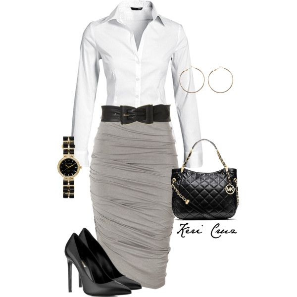 """""""Cute work outfit"""" by keri-cruz on Polyvore: Court Outfit, Style, Cute Outfits, Pencil Skirts, Cute Work Outfits, Church Outfit, Work Attire"""