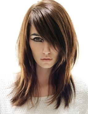 A client with short hair may not be look so fabulous with long extensions, but you can easily replicate this look with a client who has a chin grazing bob!: Hair Ideas, Haircuts, Hairstyles, State, Hair Styles, Makeup, Long Hair, Hair Cut, Beauty