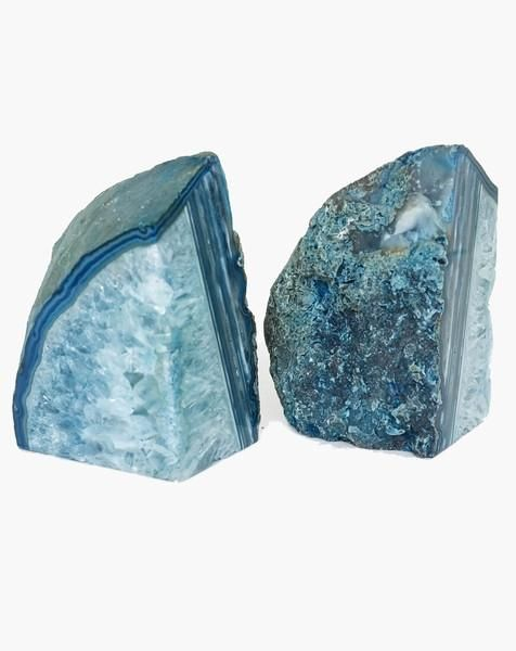 Agate Bookends - Natural stones are known to keep a flow of positive energy around their surroundings. Agate, in particular, is a stone of balance, precision, perception, and the elimination of negativity.: Book Style, Crystals Gems Minerals Stones, Color