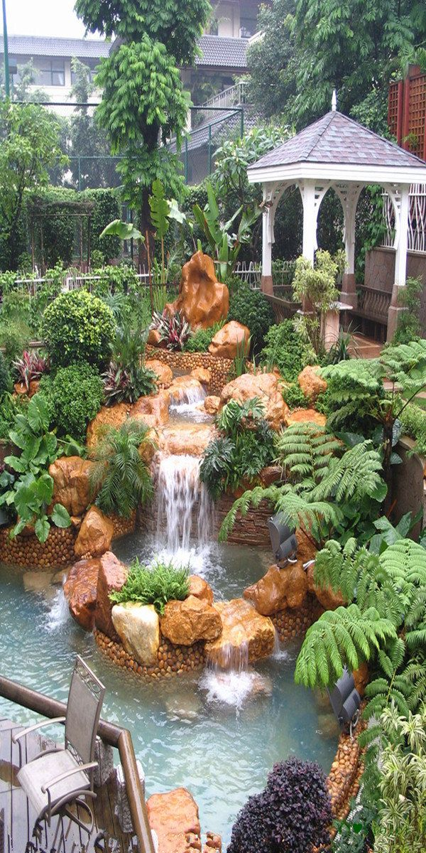 beautiful water garden...one day I'll have one of these although I'm not looking to have mine quite as big: Idea, Garden Design, Water Gardens, Backyard Waterfalls, Water Features, Outdoor, Beautiful Gardens, Landscape