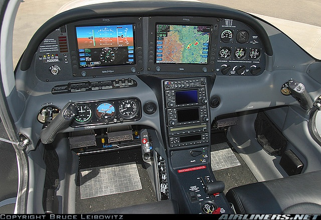 Cirrus SR22 glass cockpit.  A great plane.  I get to fly with Dr. Dhanjani, particularly on Angel Flights.  Alas, there is little for me to do in the right seat other than read back numbers for heading, altitude, air pressure... so most of the time I just