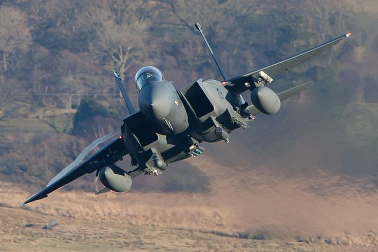 Ear Defenders Required by AirTeam  Canon    48th FW Strike Eagle approaching a pass in Snowdonia.: Photos, Aircraft, F15, Jets, Eagles, Airteam Canon