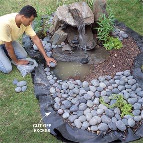 """How to build a pondless """"disappearing"""" garden fountain. Water feature with far less maintenance: Water Fountain, Water Features, Waterfeature, Water Garden, How To Build, Watergarden"""