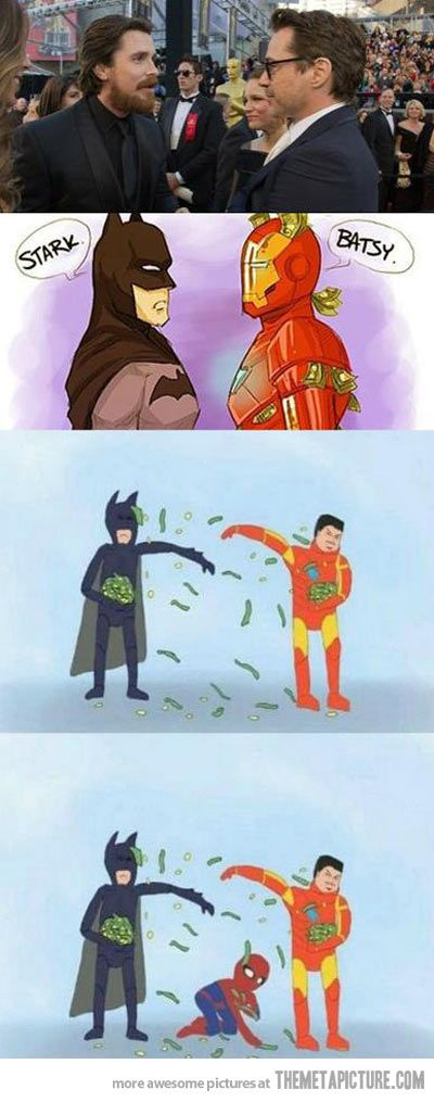 I'm sorry but this always makes me laugh: Spiderman, Iron Man, Spider Man, Funny, Batman, Ironman