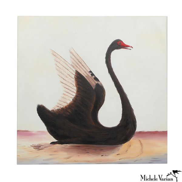 Michele Varian - Black Swan Oil Painting: Oil Paintings, Lousteau Art, Product Design, Painting 598, Oils, Finer Arts, Swan Oil