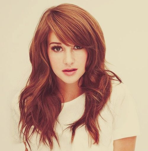 Perfect bangs: Hairstyles, Hair Styles, Shailene Woodley, Hair Cut, Bangs, Haircut, Hair Color