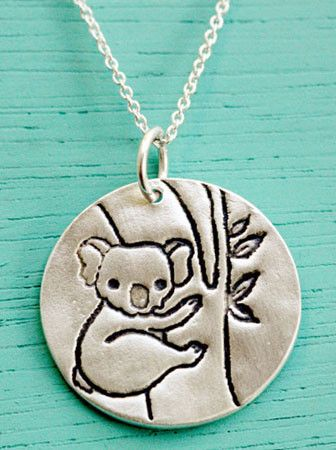 Silver Koala Necklace by Susie Ghahremani / shop.boygirlparty.com #koala #necklace #jewelry: Koala Necklace, Style, Gift Ideas, Koalas, Silver Koala, Koala Bears, Gifts, Necklaces