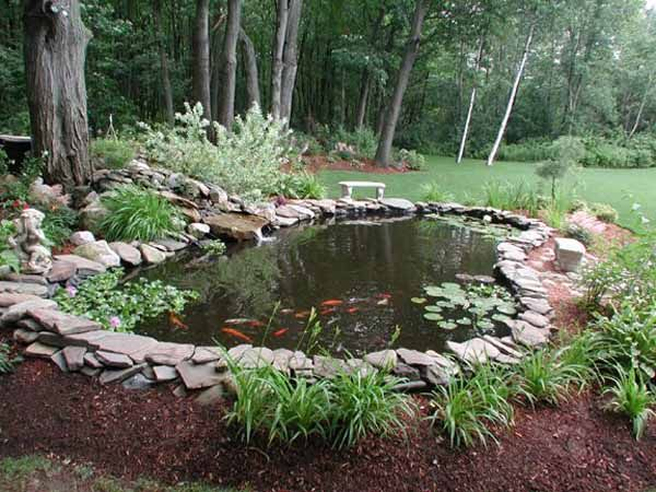 Small Water Ponds For Backyard | 21 Garden Design Ideas, Small Ponds Turning Your Backyard Landscaping ...: Pond Design, Pond Idea, Water Garden