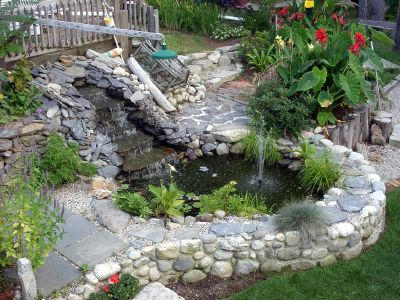 This could be our answer for a drainage water problem for Above ground pool waterfall ideas