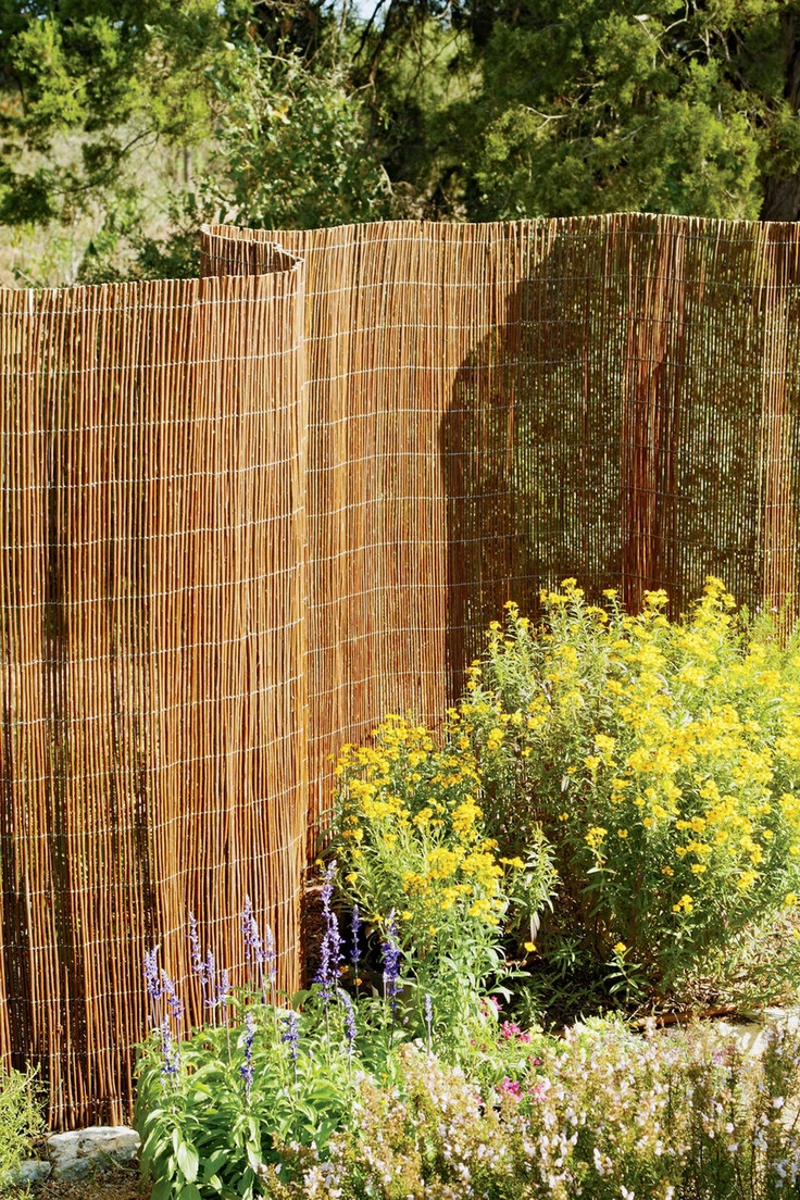 Willow Garden Fencing | Buy from Gardener's Supply...Great Idea for Cheap Privacy Fence fix!!!: Garden Ideas, Yard, Garden Fencing, Privacy Fences, Outdoor, Gardens, Willow Fencing