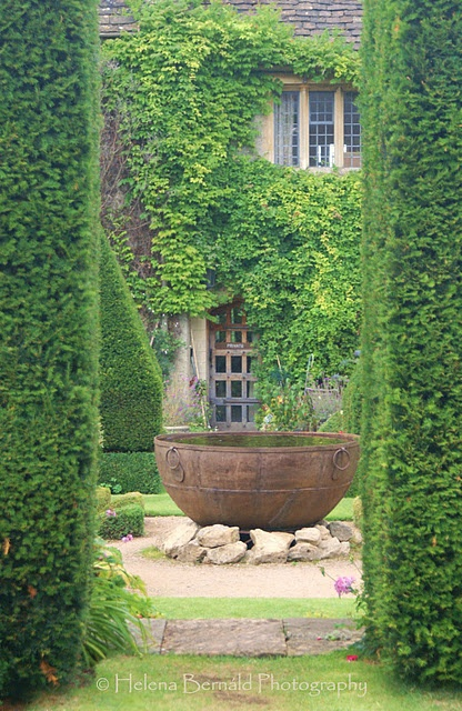 You have arrived...come on in!  (Love the old water trough that now serves as a water feature.: Waterfeatures, Secret Garden, Water Features, Dream, Gardens, Abbey House, Firepit, Garden, Fire Pit