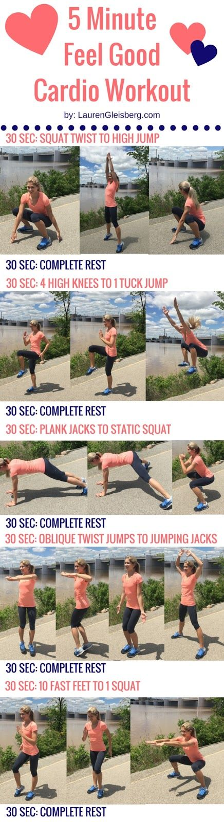 5 MINUTE FEEL GOOD CARDIO WORKOUT: Cardio Workouts, Health Fitness, Workout Program, Fitness Workouts, Workouts Fitness Motivation, Excercises Workouts Stretches, Workouts Legs, Leg Workouts