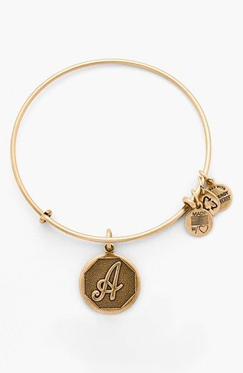 Alex and Ani 'Initial' Adjustable Wire Bangle | Nordstrom: Alex And Ani Bracelet, Alex And Ani Bangles Gold, Initial Bracelet, Alex And Ani Bangles Charms, Adjustable Wire, Ani Initial