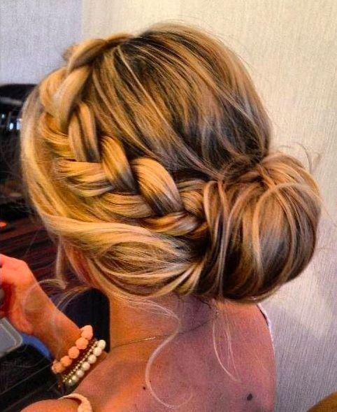 Braided Side Bun Hairstyle for Women with Thick Hair: Hairstyles, Wedding Hair, Hair Styles, Updos, Braided Bun