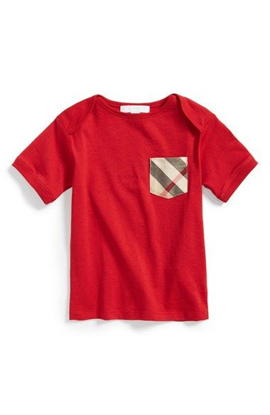 Burberry 'Callum' Check Print Chest Pocket Cotton T-Shirt (Toddler Boys) available at #Nordstrom: Toddler Boys, Boy S Burberry, Chest Pocket, Burberry Callum, Burberry Contrast, Big Boys, Contrast Pocket, Kidsfashion, Knits Boys