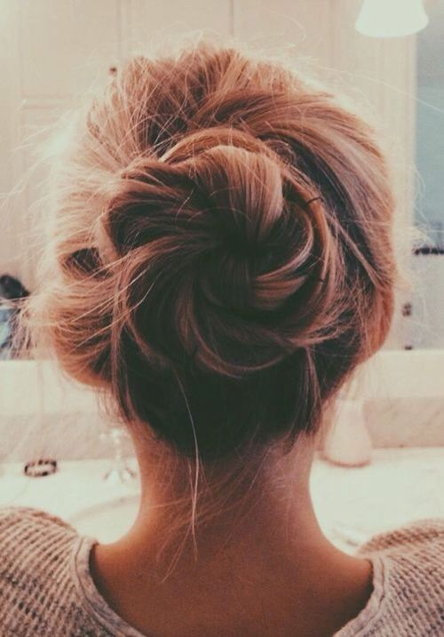 but everything works out, you know? even if it doesn't feel okay for a long time, or even if it feels like things will never be okay again, everything works out in the end: Hair Dos, Messy Bun Hairstyles, Hairdos, Hair Styles, Messy Updos For Long Hai