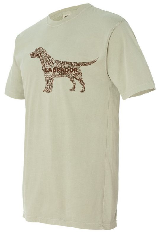 Chocolate Lab on Sand Colored T-shirt - Unisex: T Shirt, Chocolate Labs