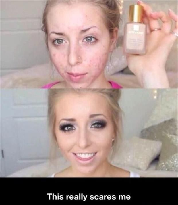 Funny Pictures Of The Day – 66 Pics: Make Up, Girl, Power Of Makeup, Funny Pictures, Funny Stuff, Humor, Beauty, Hair