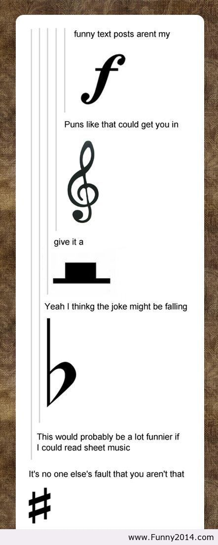 Glad I can understand this! Hahaha: Musichumor, Music Puns, Band Geek, Funny Stuff, Bandgeek, Music Joke, Music Humor