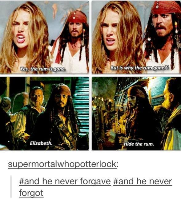He holds a grudge longer than a LotR dwarf!: Hobbit Reference, Captain Jack Sparrow, Hobbit Quotes, Pirates Life, The Hobbit, Jack O'Connell, Pirates Of The Caribbean, Movie