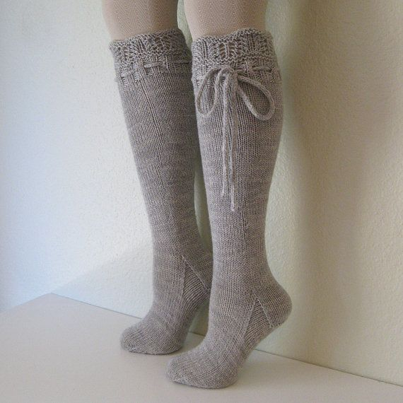 Knitting Knee High Socks. These are adorable. I need to learn how to do this!: High Socks Love, Dove Grey, Knee Highs, Boots Socks, Knitting Knee, Grey Socks, Knee High Socks, Boot Socks