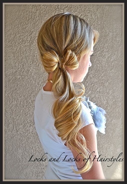Locks and Locks of Hair Styles - dozens of Cute hair styles with the youtube tutorial for each one!!: Pony Tail, Hairstyles, Hair Styles, Makeup, Hair Bows, Side Ponytail, Clothes Line