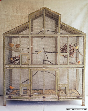 Oh, Martha. Of course you have the canary cage of my dreams.: Favorite Birdcages, Pet, Martha S Canaries, Martha Stewart, Bird Cages, Birds Cage Ideas