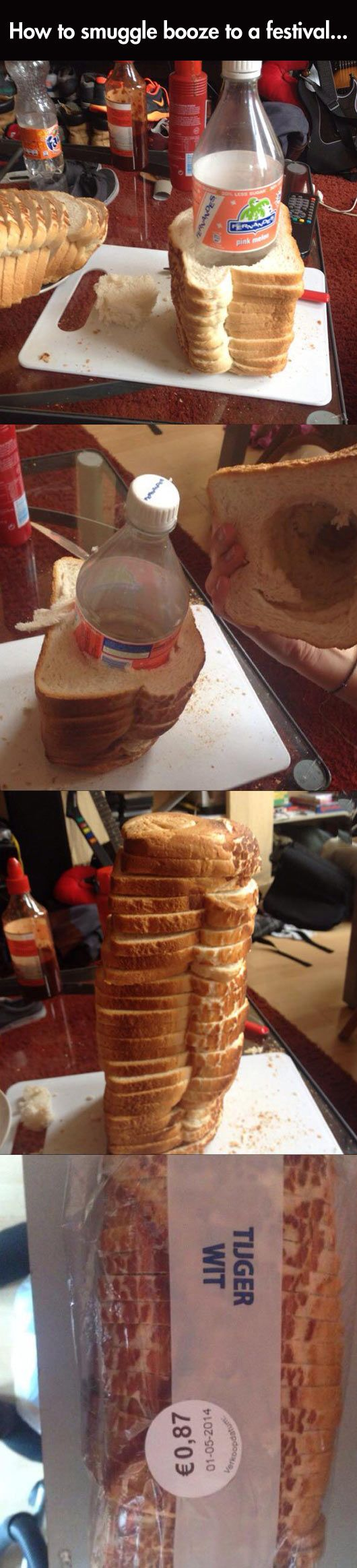 Oh This? It's Just Bread Officer // funny pictures - funny photos - funny images - funny pics - funny quotes - #lol #humor #funnypictures: Ideas, Humor Funnypictures, Festivals, Bread, Funny Images, Funny Quotes, Smuggle Booze, Cruise