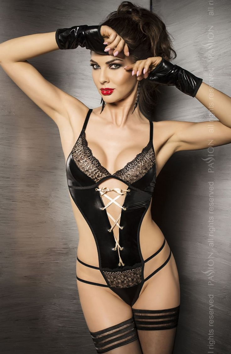 Passion Agawa Black Strappy Wet Look Body: Passion Agawa, Hot Girls, Sexy Lingerie, Lingerie Sexy, Black