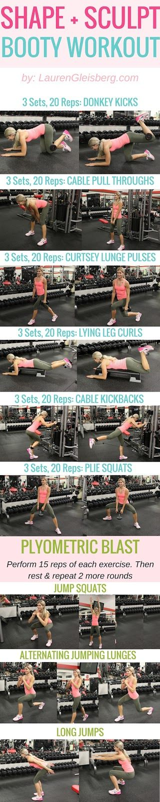 SHAPE & SCULPT LEGS & BOOTY WEIGH TRAINING WORKOUT #LGBeautyAndBooty Challenge Week 3, Day 1 by LaurenGleisberg.com: Lgbeautyandbooty Shape, Leg Glutes, Body Workout, Glutes Legs, Legs Booty, Legs Butt, Booty Workout