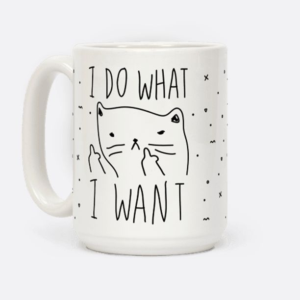 Show off your independence and rebelliousness with this sassy, cat lover's, careless feline inspired coffee mug. Go ahead and channel your inner cat, knock over some glasses, and do what you want.: