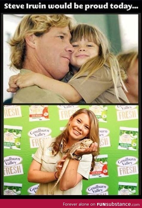 Steve Irwin would be proud: Animals, Stuff, Beautiful, Steve Irwin, Bindi Irwin, Daughter, Steveirwin, Things, People