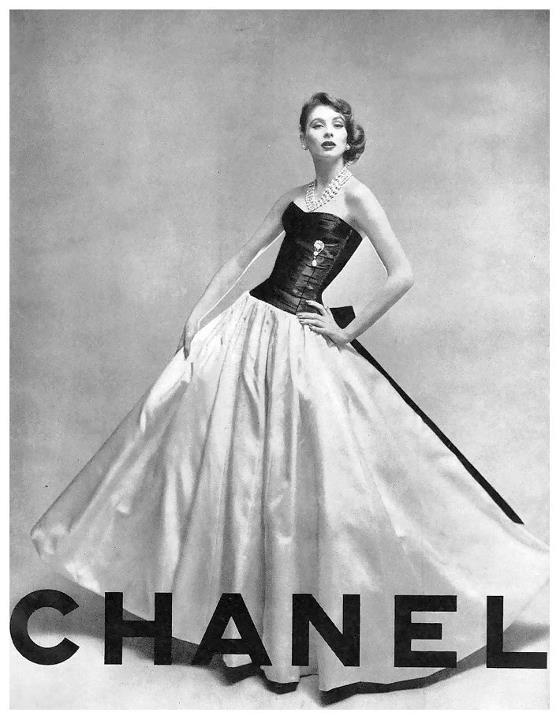 """Suzy Parker in Chanel, Vogue 1956.  """"IN ORDER TO BE IRREPLACEABLE ONE MUST ALWAYS BE DIFFERENT"""" [Coco Chanel]: Suzy Parker, Coco Chanel, 1950S, Style, Vintage Fashion, Dress, 1950 S, Cocochanel, Vintage Chanel"""