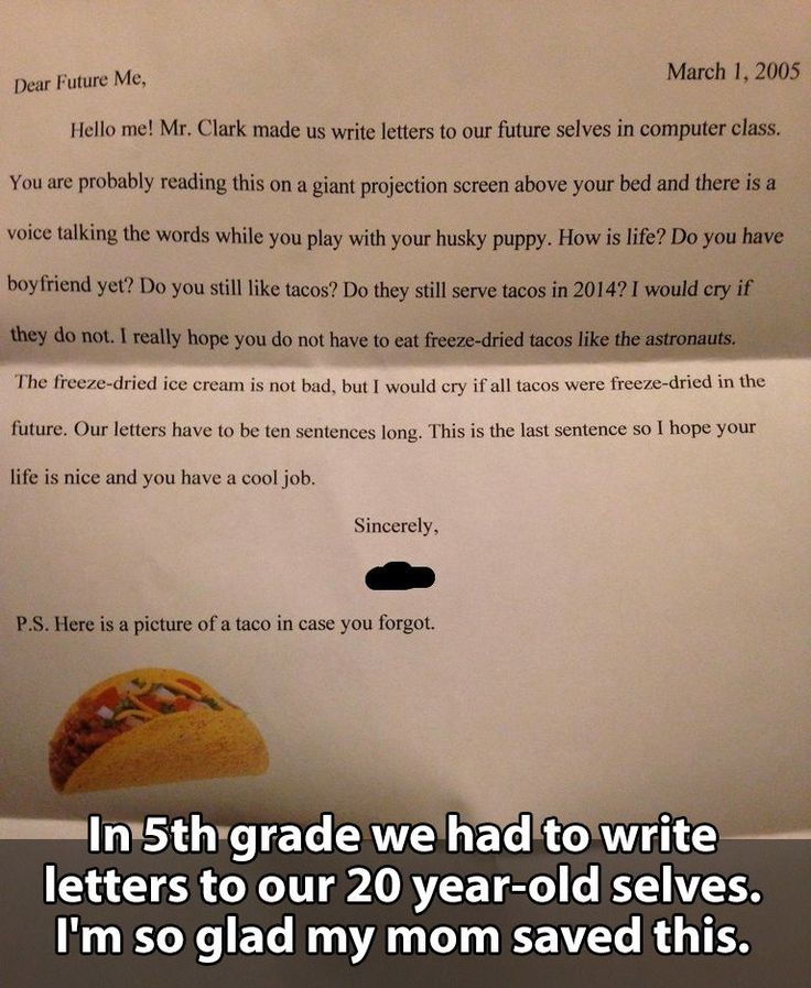 Tacos are very important.: A Letter, Tacos, 5Th Grades, Funny, 20 Year, Kid, Funnie